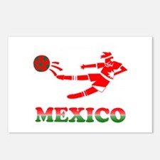 Mexican Soccer Player Postcards (Package of 8)