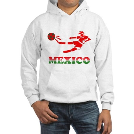 Mexican Soccer Player Hooded Sweatshirt