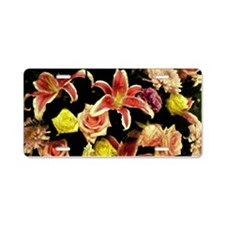 Star Lillies Aluminum License Plate
