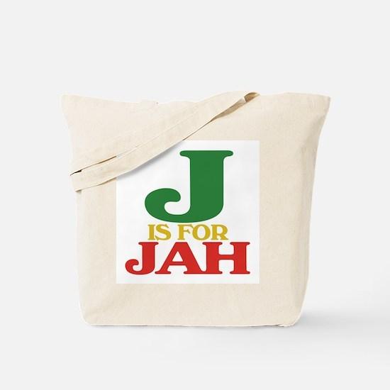 J is for Jah Tote Bag