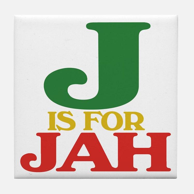 J is for Jah Tile Coaster