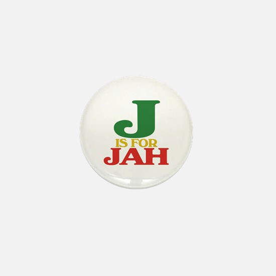 J is for Jah Mini Button (10 pack)