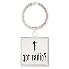 Amateur-Radio-02-A Square Keychain