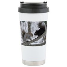 Black and Gray Squirrel Travel Mug