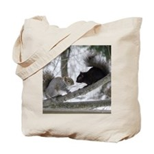 Black and Gray Squirrel Tote Bag