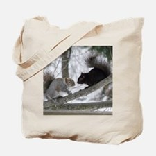 Black and Gray Squirrel Tote Bag