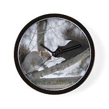 Black and Gray Squirrel Wall Clock