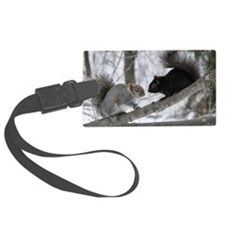 Black and Gray Squirrel Luggage Tag