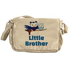 Little Brother Owl Blue Messenger Bag