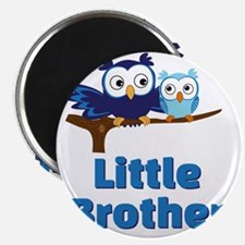 Little Brother Owl Blue Magnet