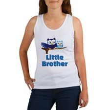 Little Brother Owl Blue Women's Tank Top
