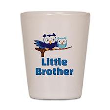 Little Brother Owl Blue Shot Glass
