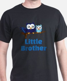 Little Brother Owl Blue T-Shirt