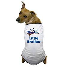 Little Brother Owl Blue Dog T-Shirt