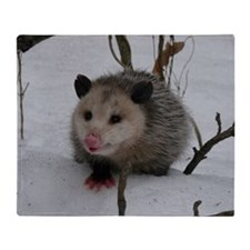 Snow Possum Throw Blanket