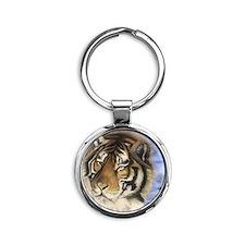 Daddys Tiger Round Keychain
