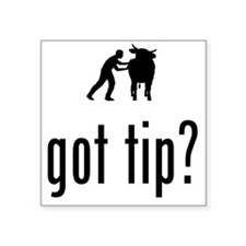 "Cow-Tipping-02-A Square Sticker 3"" x 3"""