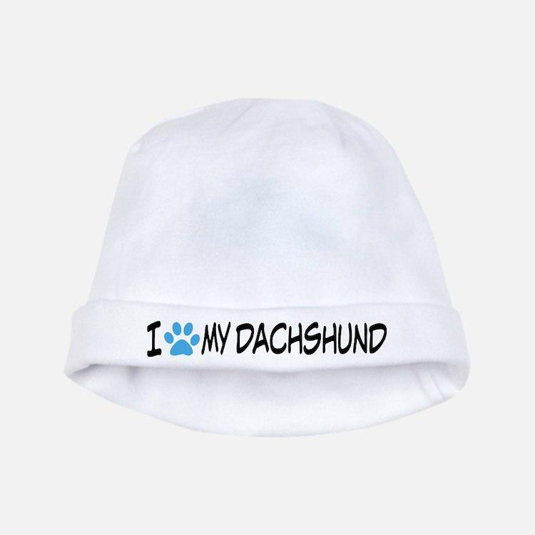 I Heart My Dachshund baby hat