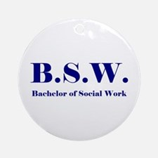 BSW (Design 2) Ornament (Round)