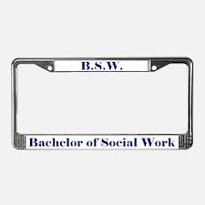 BSW (Design 2) License Plate Frame