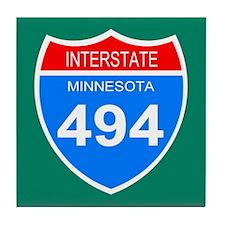 Interstate 494<BR> Tile Coaster
