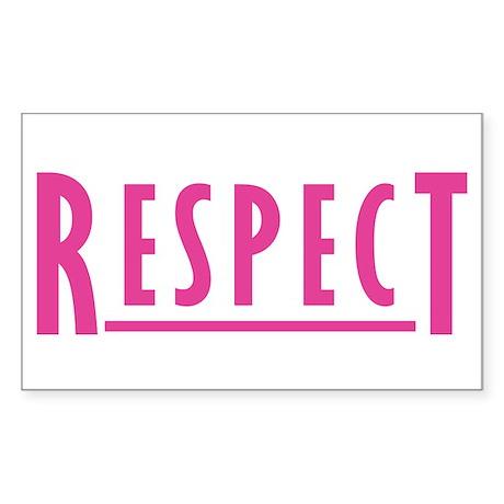 RESPECT - ORIGINAL Rectangle Sticker