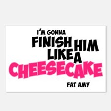 Finish him like Cheescake Postcards (Package of 8)
