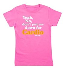 No Cardio - white Girl's Tee