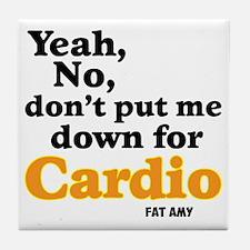 No Cardio Tile Coaster