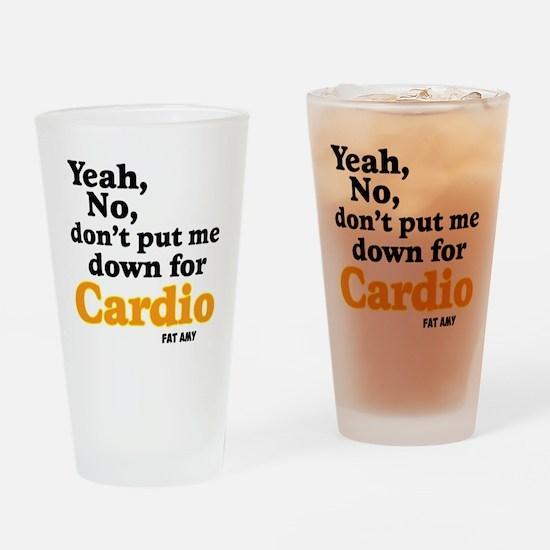 No Cardio Drinking Glass