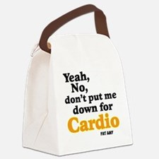 No Cardio Canvas Lunch Bag