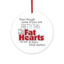 Fat Hearts Round Ornament