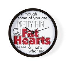Fat Hearts Wall Clock