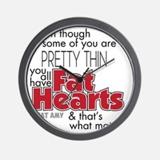 Fat Hearts Wall Clock