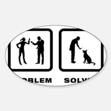 Dog-Trainer-02-10-A Sticker (Oval)