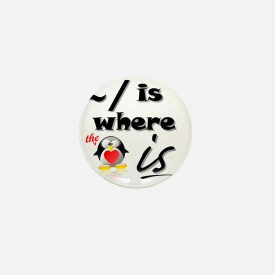 Home is Where the Heart Is! Mini Button