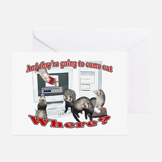 Downloading Raisins Greeting Cards (Pk of 10)
