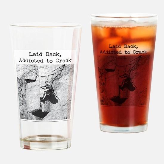 Unique Crack climbing Drinking Glass