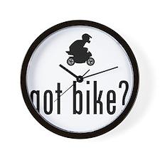 Pocket-Bike-02-A Wall Clock