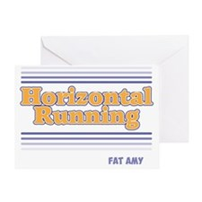 Horizontal Running Greeting Card