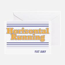 Horizontal Running Greeting Card