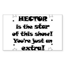 Hector is the Star Rectangle Decal