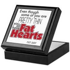 Fat Hearts version 2 Keepsake Box