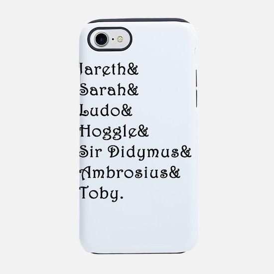 Labyrinth Names iPhone 7 Tough Case