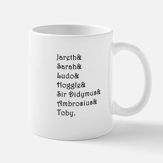 Labyrinth Names Mugs