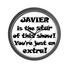 Javier is the Star Wall Clock