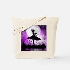 Enchanted-Silhouette-Fairy-Purple Tote Bag