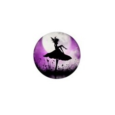 Enchanted-Silhouette-Fairy-Purple Mini Button