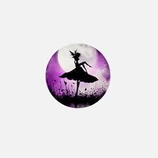 Enchanted-Silhouette-Fairy-Purple Mini Button