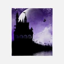 Enchanted-Silhouette-Castle-Purple Throw Blanket